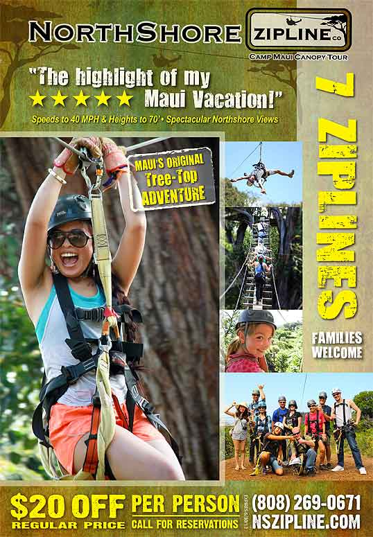 North Shore Zipline Discount Coupon